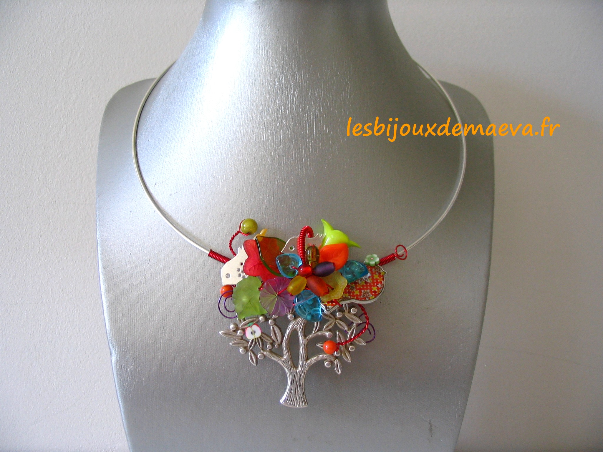 Createur De Bijoux Fantaisie Paris : Bijoux fantaisie cr?ateur collier multicolore quot ecolo