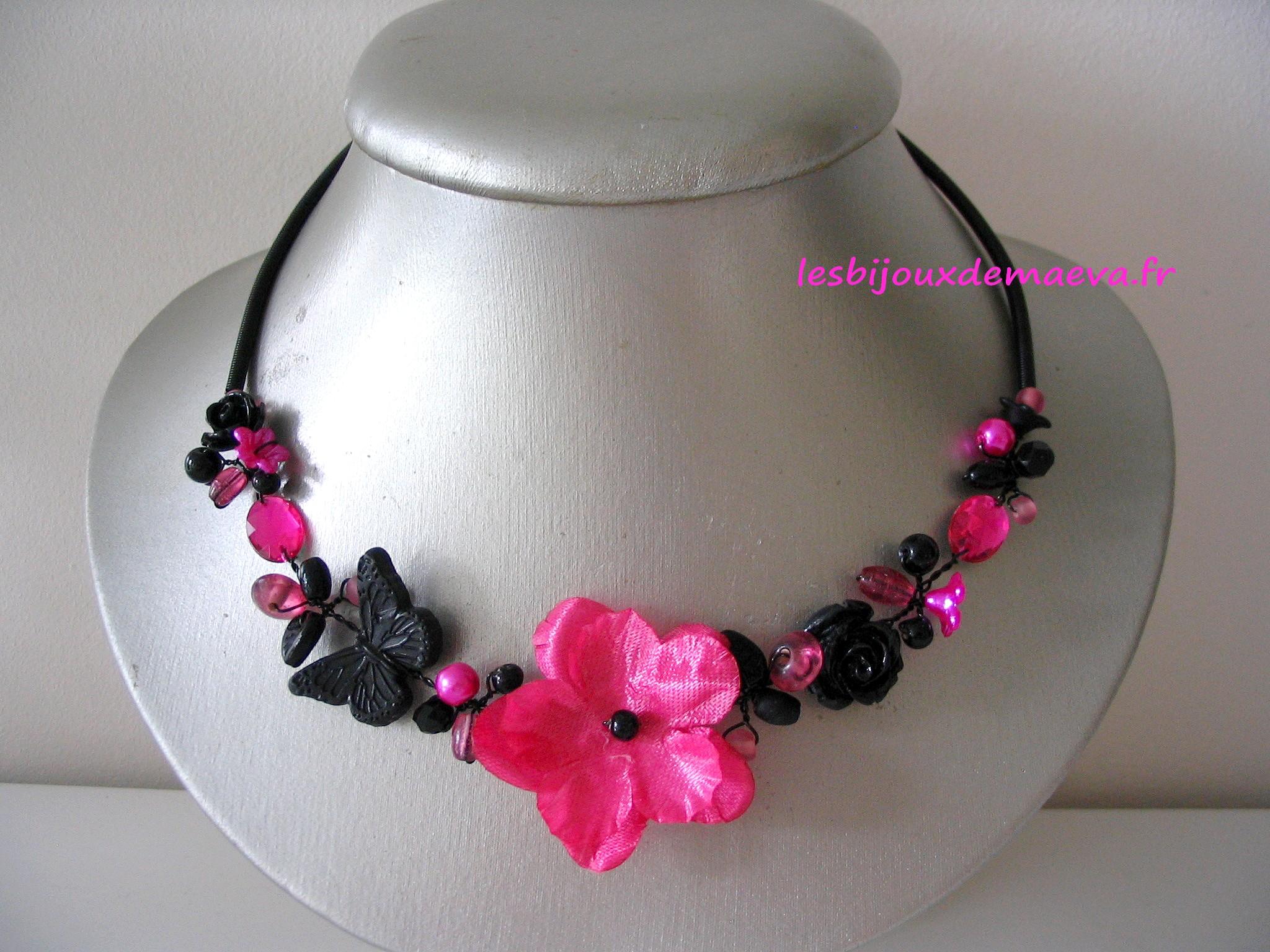 Bijoux fantaisie rose fushia