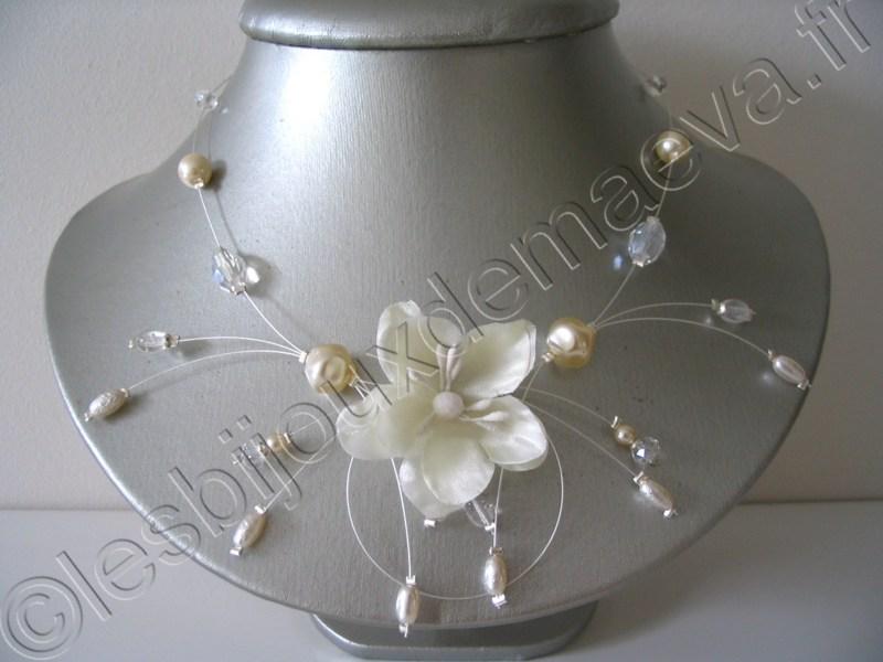 Avis de carine m sur bijoux mariage collier comete fleur for Collier fleur mariage
