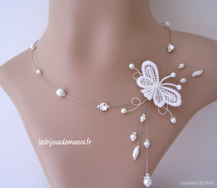 bijoux fantaisie mariage collier papillon gracieuse With bijoux papillon