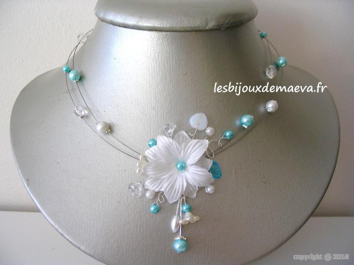 Produit Pour Nettoyer Les Bijoux Fantaisie : Bijoux mariage turquoise collier fantaisie mari?e fleur