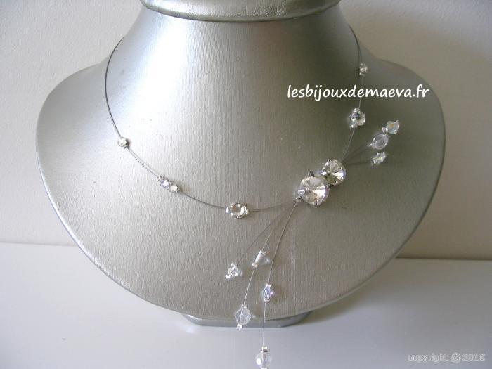 collier fantaisie mariage noir perles strass. Black Bedroom Furniture Sets. Home Design Ideas