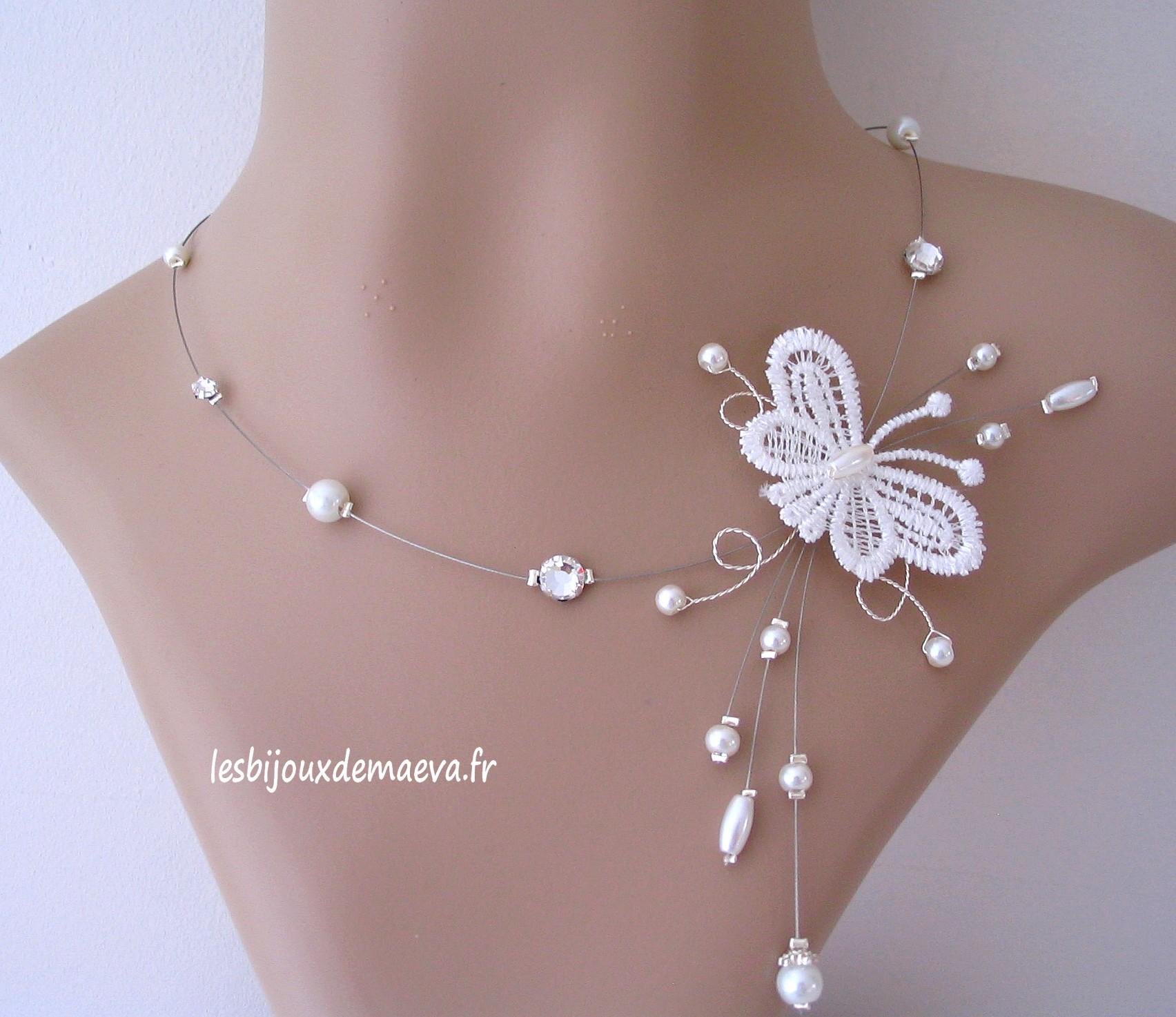 e5764689262 bijoux fantaisie mariage collier papillon Gracieuse