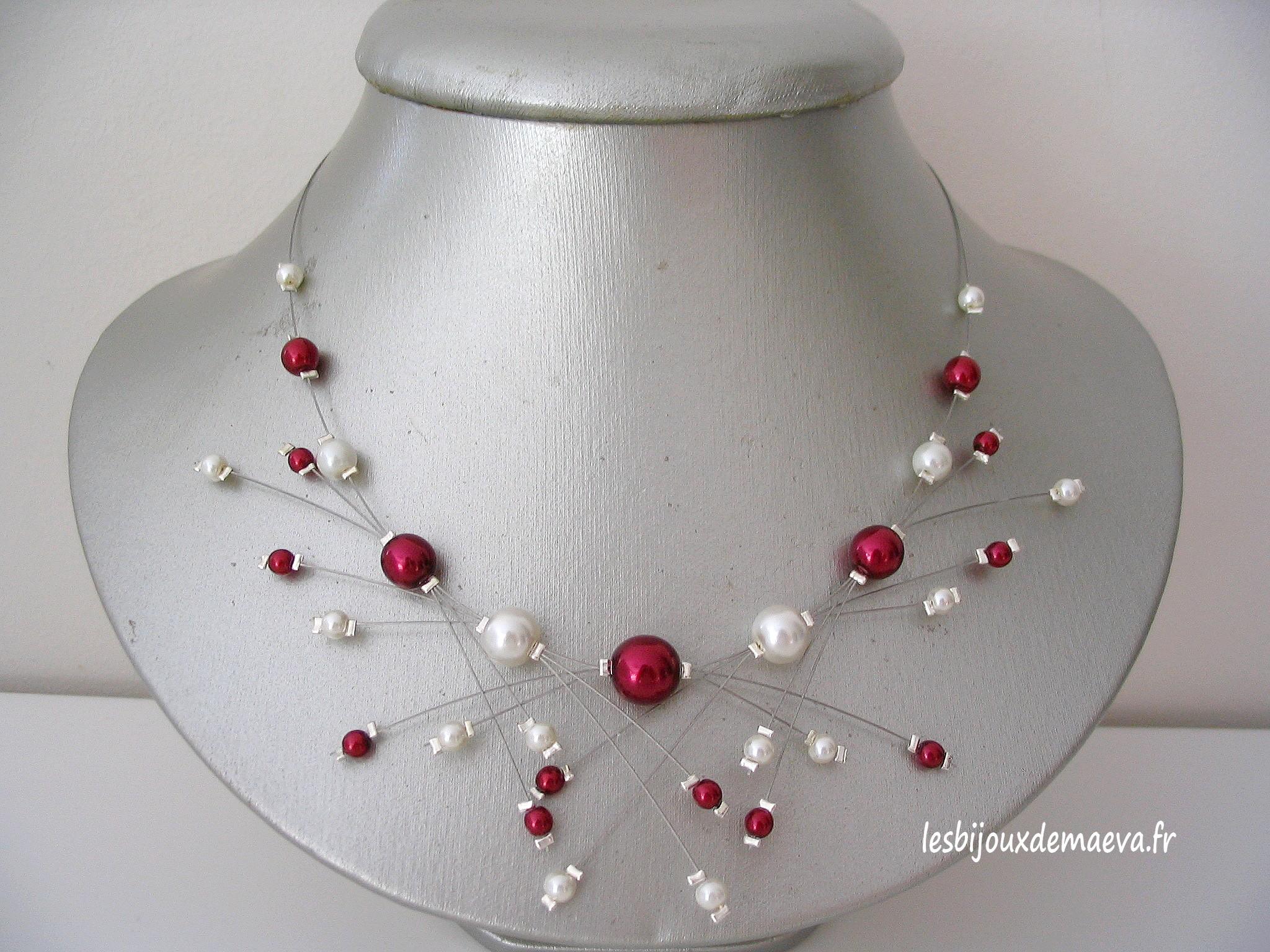 parure collier perle