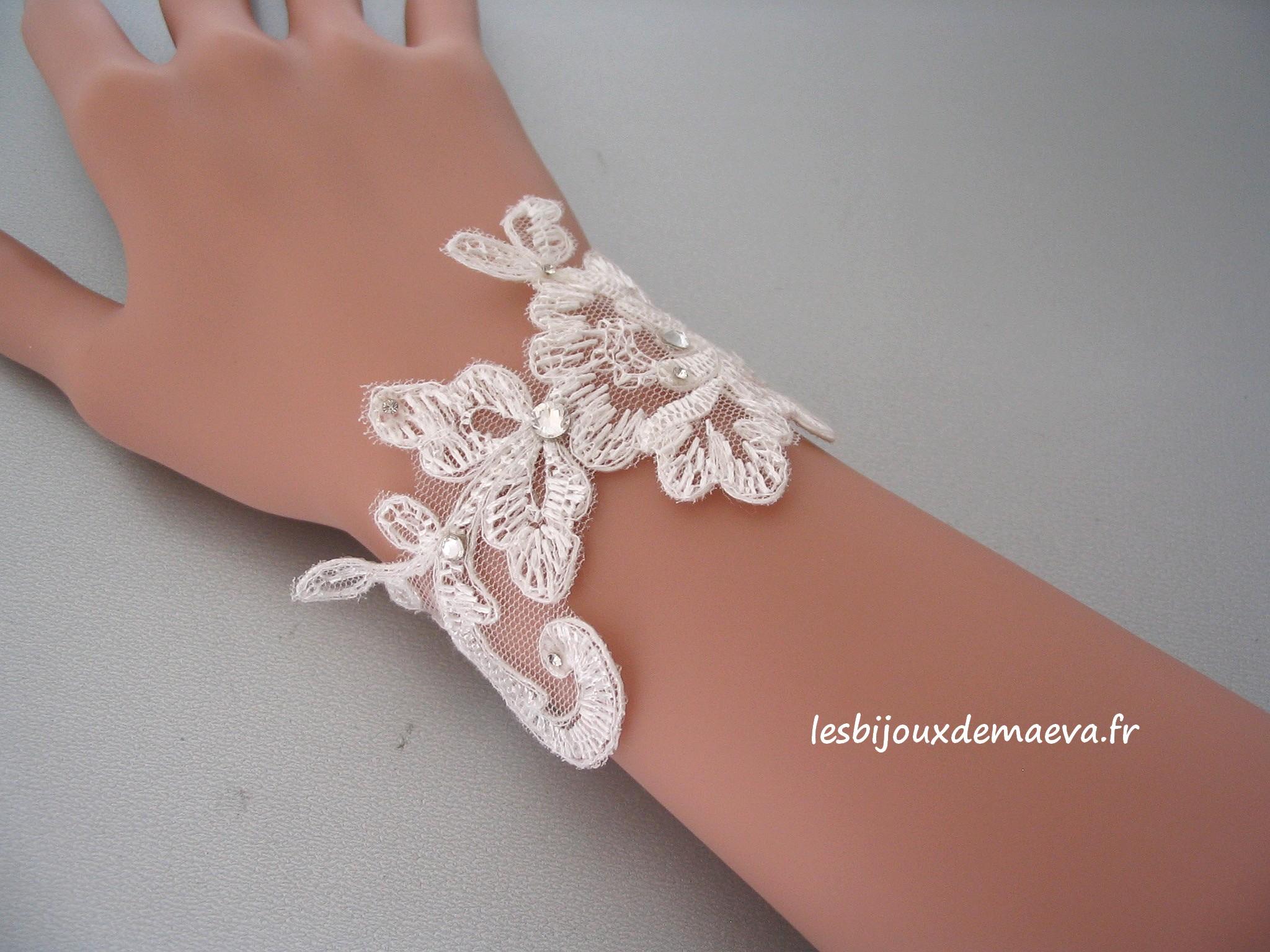 68c870b9aa Bijoux mariage dentelle bracelet Ravissante