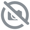 Collier fantaisie rouge et vert Merry christmas